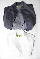 Sigrid Olsen Signature Womens 3/4 Sleeve Jackets Blue Size M Lot 2