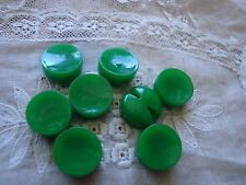 8 Green Chunky 1940's  Plastic Buttons