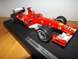 FERRARI F1 RACING CAR ON PLINTH - MICHAEL SCHUMACHER - F2003-GA - WEATHERED