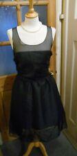KARL LAGERFELD for H&M Silk Dress black Fab Button Back detail Size 12 BNWOT