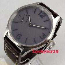 Винтаж 43 мм фиолетовый серый циферблат Сапфир кристалл 6497 ручная перемотка мужские часы