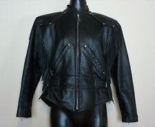 Harley Davidson Women Leather Motorcycle Bike Jacket XS Fringe Tassel