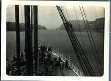 "Bernard Lefebvre, Navire ""Le France"", Le pont avant  Vintage silver print. Vinta"