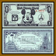 "Disney 1 Dollar (Recreation Coupon), 1972 ""A"" Series (Disney World) Florida (AU)"