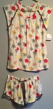 Summer Outfits Sets Women XS Extra Small Beach Palm Trees Tank Top And Shorts