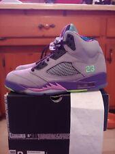 Jordan 5 Bel Air Cool Grey Purple Size 8.5 DS With Shirt