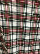 RED GREEN WHITE MULTICOLOR PLAID 100% COTTON FABRIC (45 in.) Sold BTY