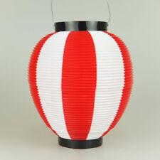 JAPANESE Polyester Chochin Matsuri Festival Lantern JAPAN Red White 24cm