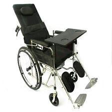 Rehabilitation Rollstuhl mit voller Armen & Swing away Fußstütze & Tisch Pro