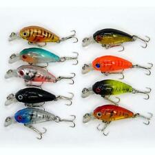 Lot 5pcs Kinds of Fishing Lures Crankbaits Fish Hooks Minnow Baits Tackle New KJ