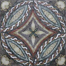 Repetitive Jar Diamond Floral Table Top Design Marble Mosaic GEO1373