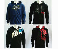 Fox Racing Men's Zip Front Fleece Hoody Hoodie Sweatshirts Winter Size S-XL Sale