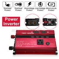 3000-5000W Car Caravan Solar Power Inverter LED Sine Wave Converter USB