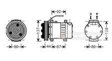 VAN WEZEL Klimakompressor Renault Twingo 1 I 40 kW 55PS compressor KLIMAANLAGE