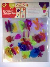 Happy Birthday 3 PACK Window Gel Clings
