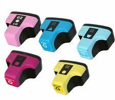 5Pk 02 Color Ink Cartridge For HP Photosmart C7180 C6280 C7280 8230 C5180 C6180