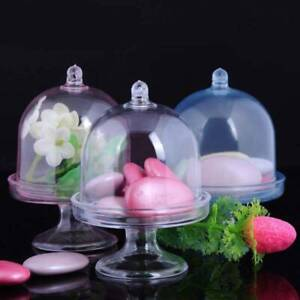12x Mini Cake Stand Sweet Cupcake Box Plastic Candy Boxes Wedding Party Favor
