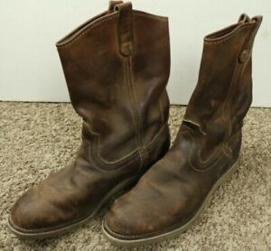 Red Wings Pecos Boots Size 10 D Leather USA VTG
