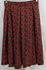 Womens LuLaRoe Madison Box Pleat Skirt LARGE Black Red Pink Yellow NWT
