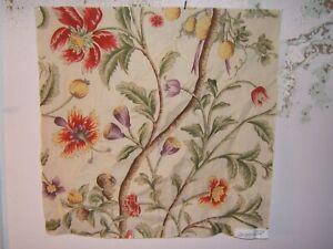 "Clarence House, Montpensier, Floral Remnant, 26.50"" W X 26"" L, Color Natural"