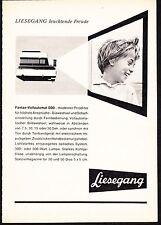3w876/vecchia pubblicità con loghi di 1961-Proiettore Diapositive Liesegang FANTAX-pieno sportello automatico 500