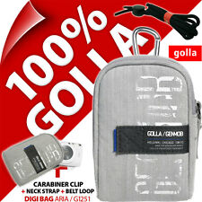 New Golla Universal Compact Digital Camera Case Bag Grey for Canon Sony Samsung