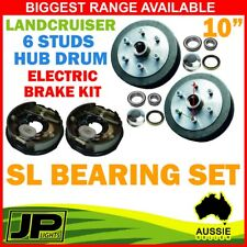 "PAIR 10"" ELECTRIC BRAKE KIT WITH PAIR 10"" HUB DRUM LANDCRUISER 6 STUD SL TRAILER"