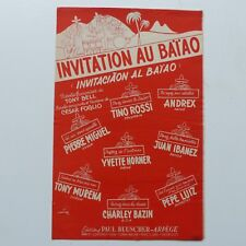 Partition Invitation au baiao PIERRE MIGUEL TINO ROSSI ANDREX MURENA HORNER