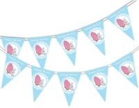 Happy Easter - Bunny & Egg - Bunting Banner 15 flags by PARTY DECOR