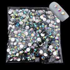 1000pcs 4mm Nail Art Glitter AB Rhinestone Crystal Gems Tools 3D Tips Decoration