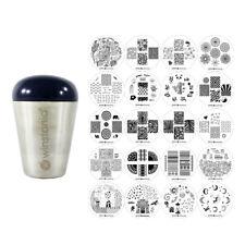 Winstonia 20 pc Nail Stamping Plates Stamper Set Art Stamp Manicure Disc Bundle