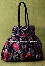 Kantha Indian Handbag Bird Floral Shoulder Bag Women Shopping Bag Gypsy Bag