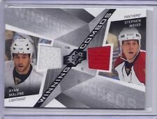 RYAN MALONE STEPHEN WEISS LIGHTNING PANTHERS 2008-09 SPx WINNING COMBOS #WC-PS