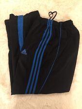 Adidas Three Stripe Men  Blue Polyester  Track Warm Up Mesh Lined Pants Medium