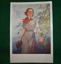GIRL SCOUT - 1937 CARDBOARD POSTER - 25th ANNIVERSARY - VERY SCARCE