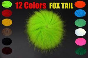 12colors Natural Fox Tail Hair Arctic Fox Polar Tail Streamer Fly Tying Material