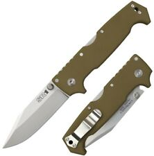 "Cold Steel SR1 4"" CPM-S35VN Steel Long OD Green G10 Handle W/ Belt Clip 62L NEW"