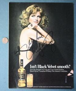 Supermodel Cheryl Tiegs signed autographed 1975 Black Velvet Magazine ad photo!