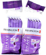 2 Packs Remington 2 Blade Purple Disposable Shavers Lubricating Strip 20 Total