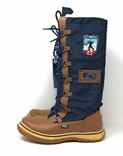 Pajar Women's Grip Zip Winter Boot Navy Blue & Brown Size 40 EU 9 - 9.5 US