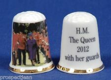H.M.The Queen 2012 With Her Guards China Thimble B/85