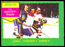 1973-74 OPC 191 JACQUES LEMAIRE MONTREAL CANADIENS NM STANLEY CUP QUARTER FINALS