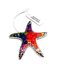 PENDANT/NECKLACE ST Brightly Colored Enamels & Textures GIANT STARFISH