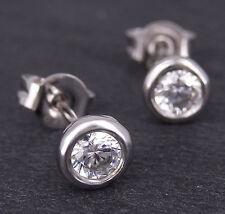 Ohrstecker in 750/18K Weißgold 2 Diamanten Brillant - Schliff ca. 0,50ct. W / SI