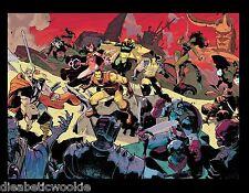 Sdcc Marvel Avengers Wolverine Spiderman Affiche Artwork Iron Man