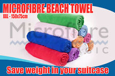 XXL Micro fibre Super Soft Super Absorbant Beach / Sports Towel 150cm x 75cm