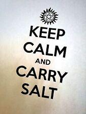 Supernatural Keep Calm and Carry Salt Vinyl Die Cut Car Laptop Decal Sticker Hot