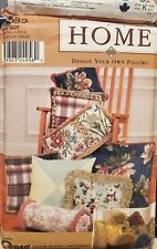 Vtg Simplicity Home Design Your Own Pillows pattern 9683  11 variations  uncut