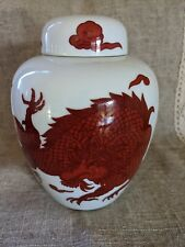 Fitz And Floyd Red Dragon Ginger Jar