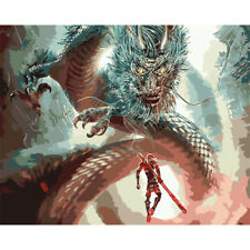 """Dragon Paint by Number Kit Chinese Fantasy DIY Oil Painting Dimensions 20""""x16"""""""